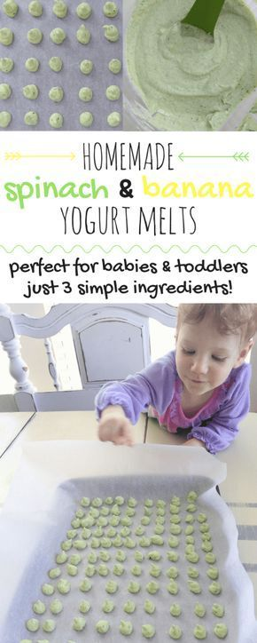 Homemade 3 Ingredient Baby Yogurt Melts