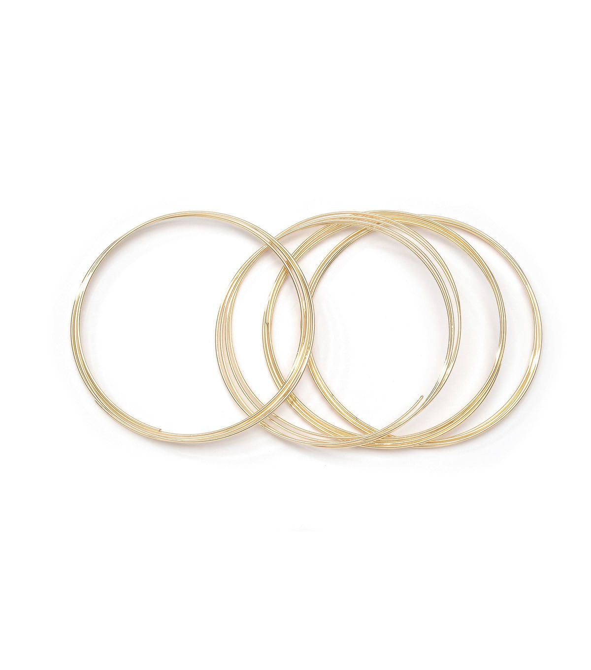 Jewelry making gold plated memory wire bracelet coil memory wire