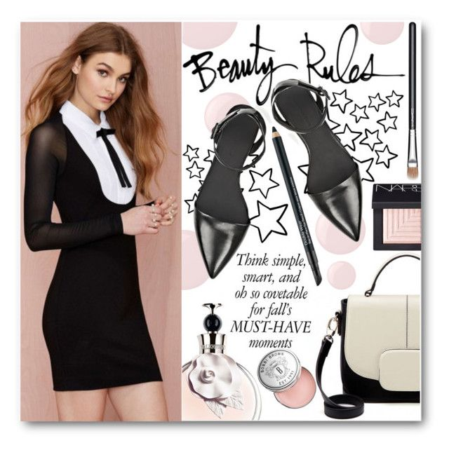 """""""Be Gorgeous"""" by stylemoi-offical ❤ liked on Polyvore featuring beauty, Essie, Bobbi Brown Cosmetics, NARS Cosmetics, Alexander Wang, MAC Cosmetics, Estée Lauder and longsleevedress"""