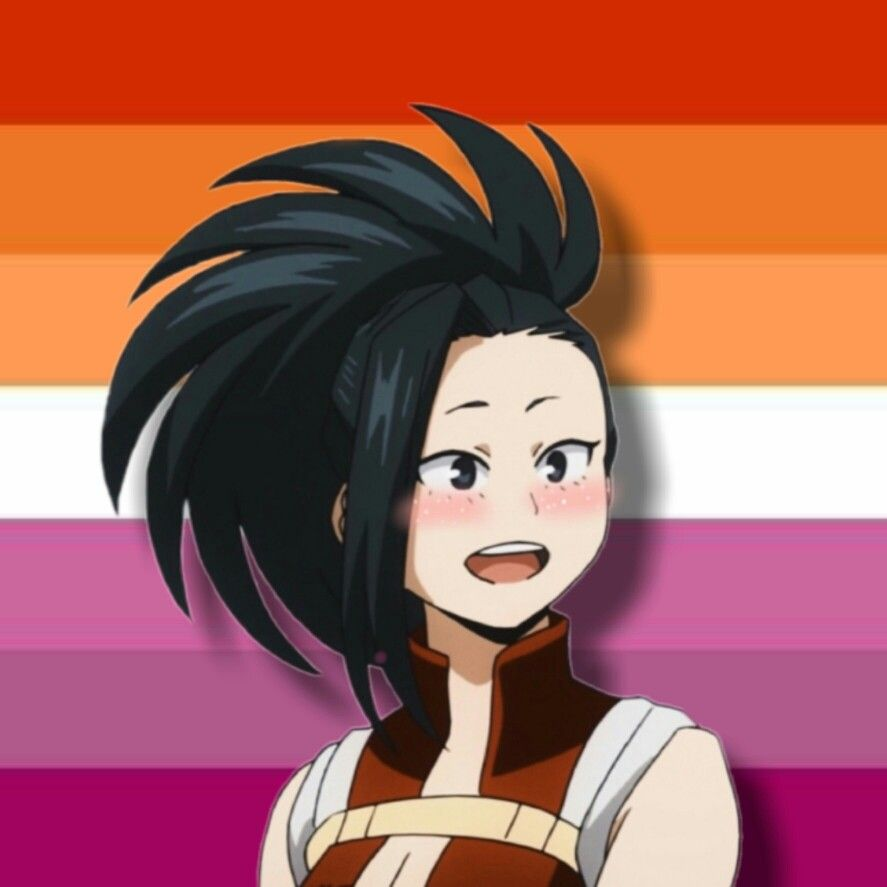 Momo Yaoyorozu Lesbian Pride Profile Picture Lesbian Pride Picture Icon Lesbian Flag