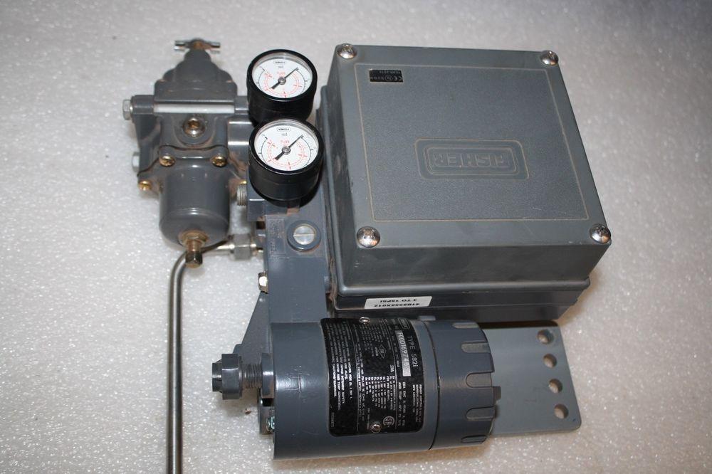 Fisher 582i ElectroPneumatic Converter w/ Gauges 20mADC