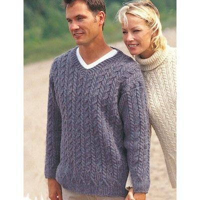 Free Experienced Men's Sweater Knit Pattern | Men sweaters ...