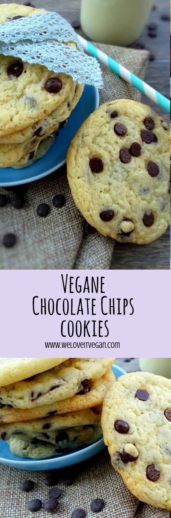 Vegane Chocolate Chips Cookies