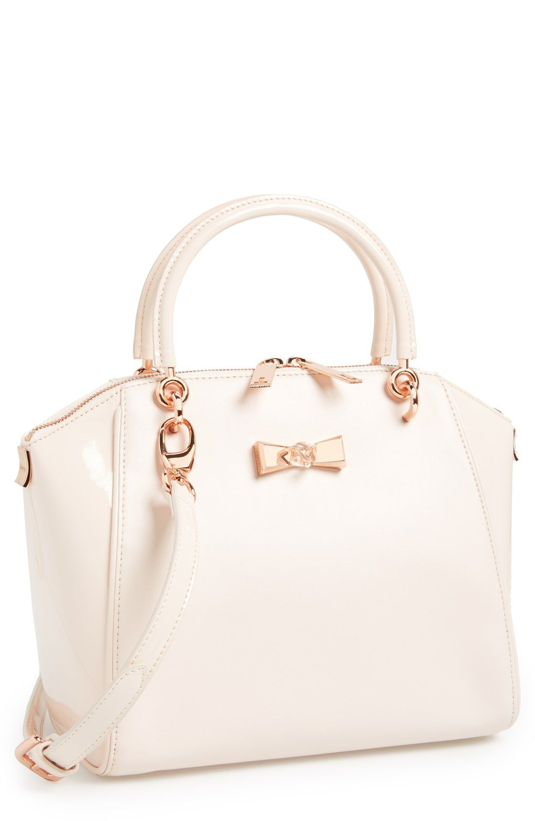 044d0ea0697b0 ... handbags will make you amazed. A gem-embellished bow tote in the most  gorgeous nude pink color.
