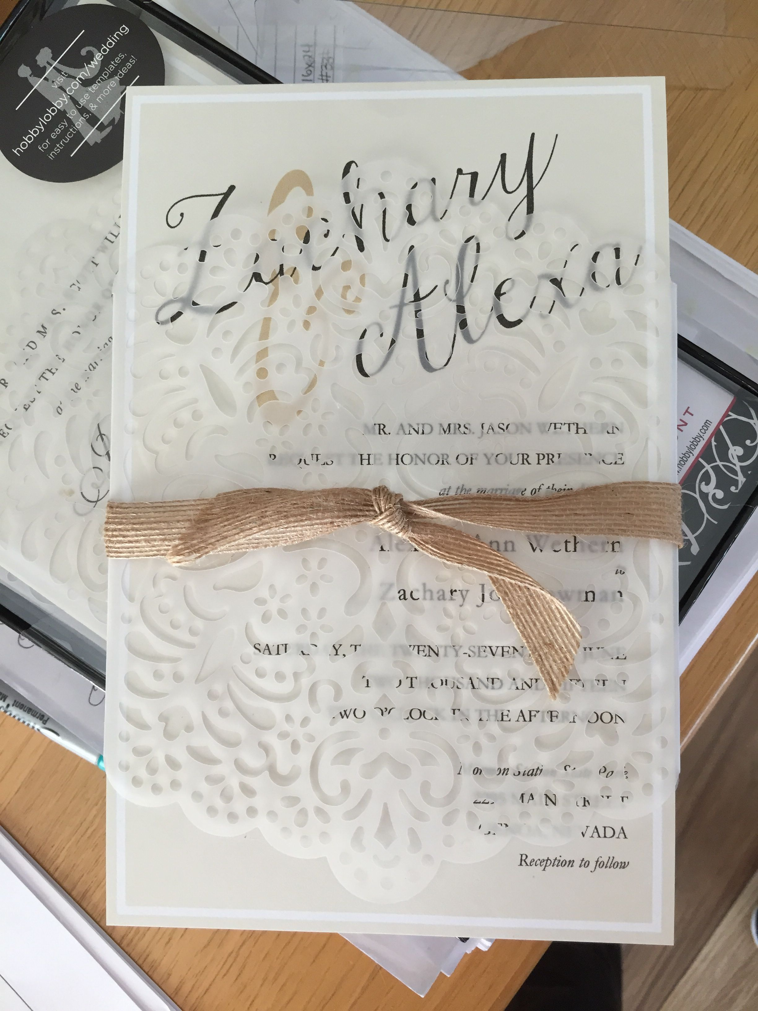 Hobby Lobby Wedding Invitations My Own Diy Projects Pinterest