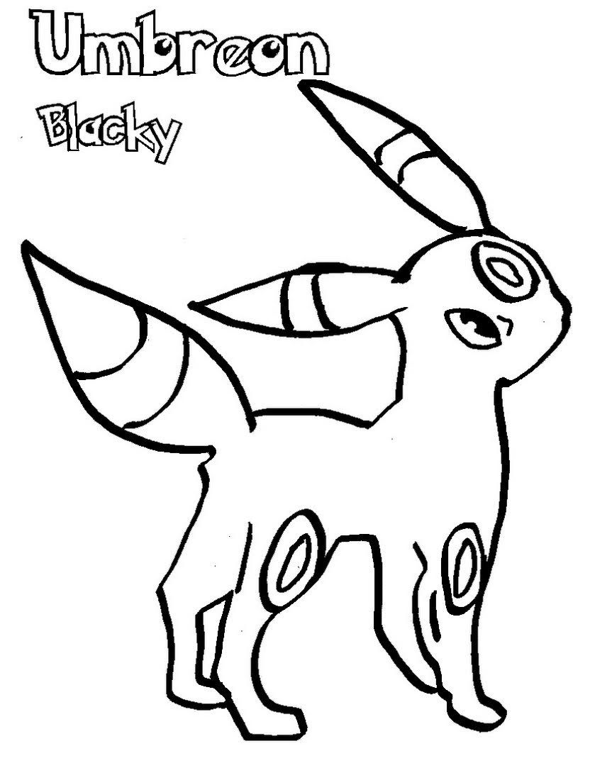 Umbreon Coloring Pages Free Printable Free Pokemon Coloring Pages Pokemon Coloring Coloring Pages