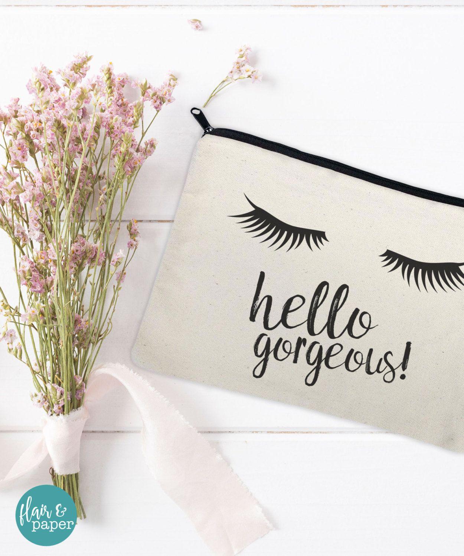 18051ac8ed5 Canvas Makeup Bag - Make Up Pouch - Canvas pouch - Cosmetic pouch - Cosmetic  Bag…