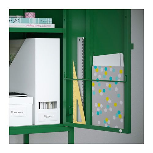 lixhult cabinet metal green storage ikea storage and. Black Bedroom Furniture Sets. Home Design Ideas