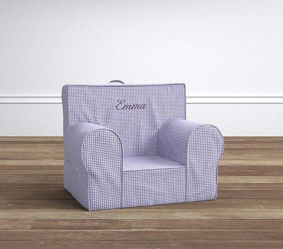 Lavender Gingham My First Anywhere Chair 174 Pottery Barn