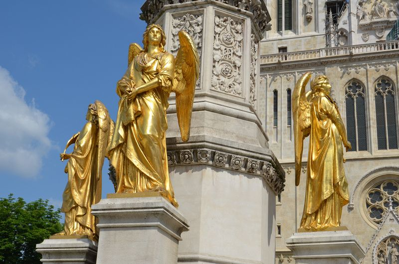Golden Angels At Zagreb Cathedral Zagreb Croatia Zagreb Croatia Zagreb Cathedral
