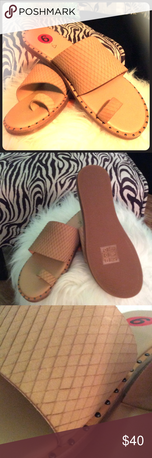 NWT Kelsi Dagger Size 6 NWT Kelsi Dagger Brooklyn size 6, camel color beautiful detailing on leather. Comfortable sandal. $40 Kelsi Dagger Shoes Sandals