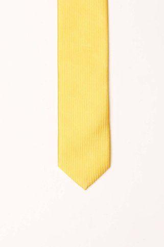 Skinny Tie Madness Mellow Yellow Tie