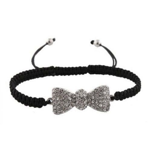 Black with Silver Iced Out Bow Tie Shamballah Lac ($1.95)