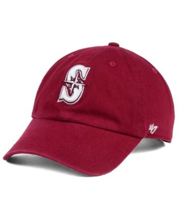 pretty nice 13df2 965f7  47 Brand Seattle Mariners Cardinal and White Clean Up Cap - Red  Adjustable.