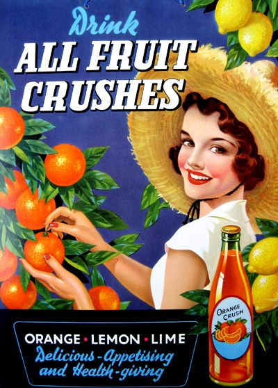 Drink All Fruit Crushes 1930's