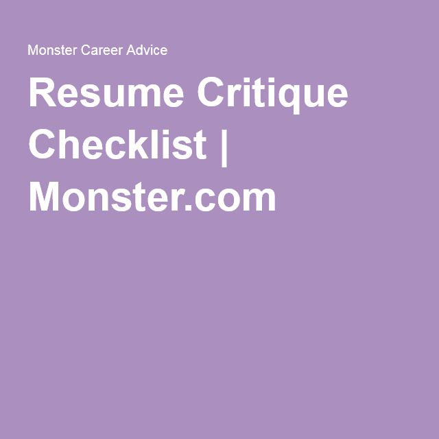 Is your resume the best it can be Use this resume critique