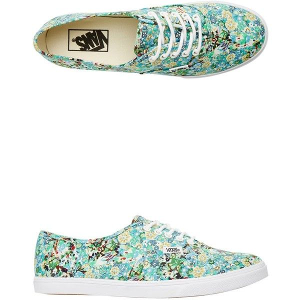 7532957714 Vans Ditsy Floral Authentic Lo Pro Shoe ( 55) ❤ liked on Polyvore featuring  shoes