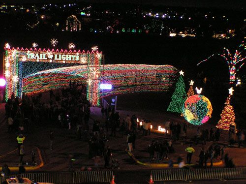 Over Two Miles Of Scenic Christmas Lights At The Trail Of Lights In Branson Mo Christmas Travel Christmas Lights Christmas Light Displays