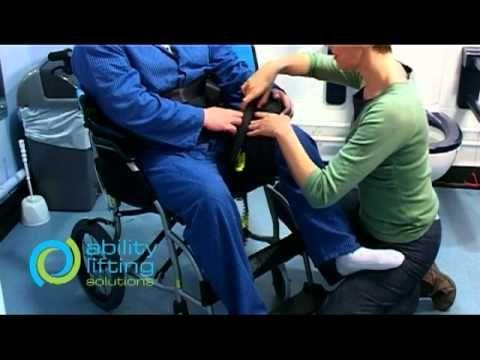 Toilet Transfer Sling Fitting Usage Demonstration Nursing Assistant Certified Nursing Assistant Medical