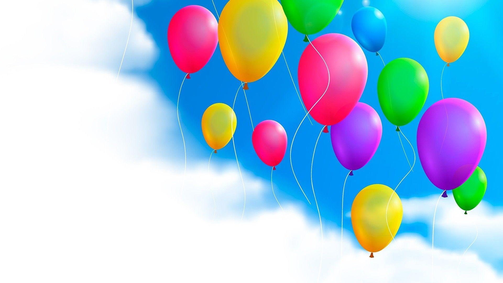 1920x1080 Hintergrundbilder Luftballon Himmel Wolke 1920x1080 Luftballons Wallpaper Fur Desktop Kostenlose Ausmalbilder