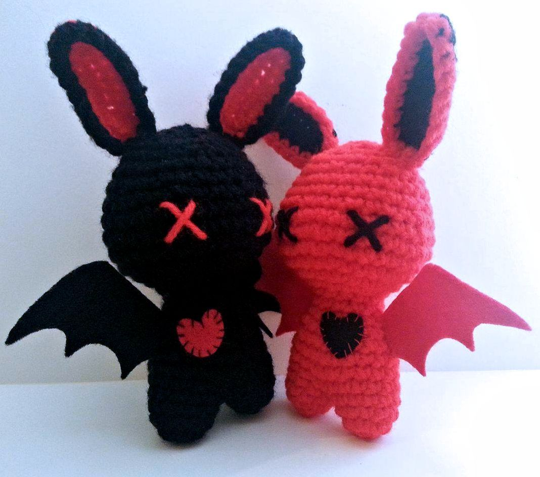 Instant download crochet zombie bunny amigurumi pattern crochet pattern zombie amigurumi love bats plush dolls digital download pdf lauriegorexx etsy bankloansurffo Images