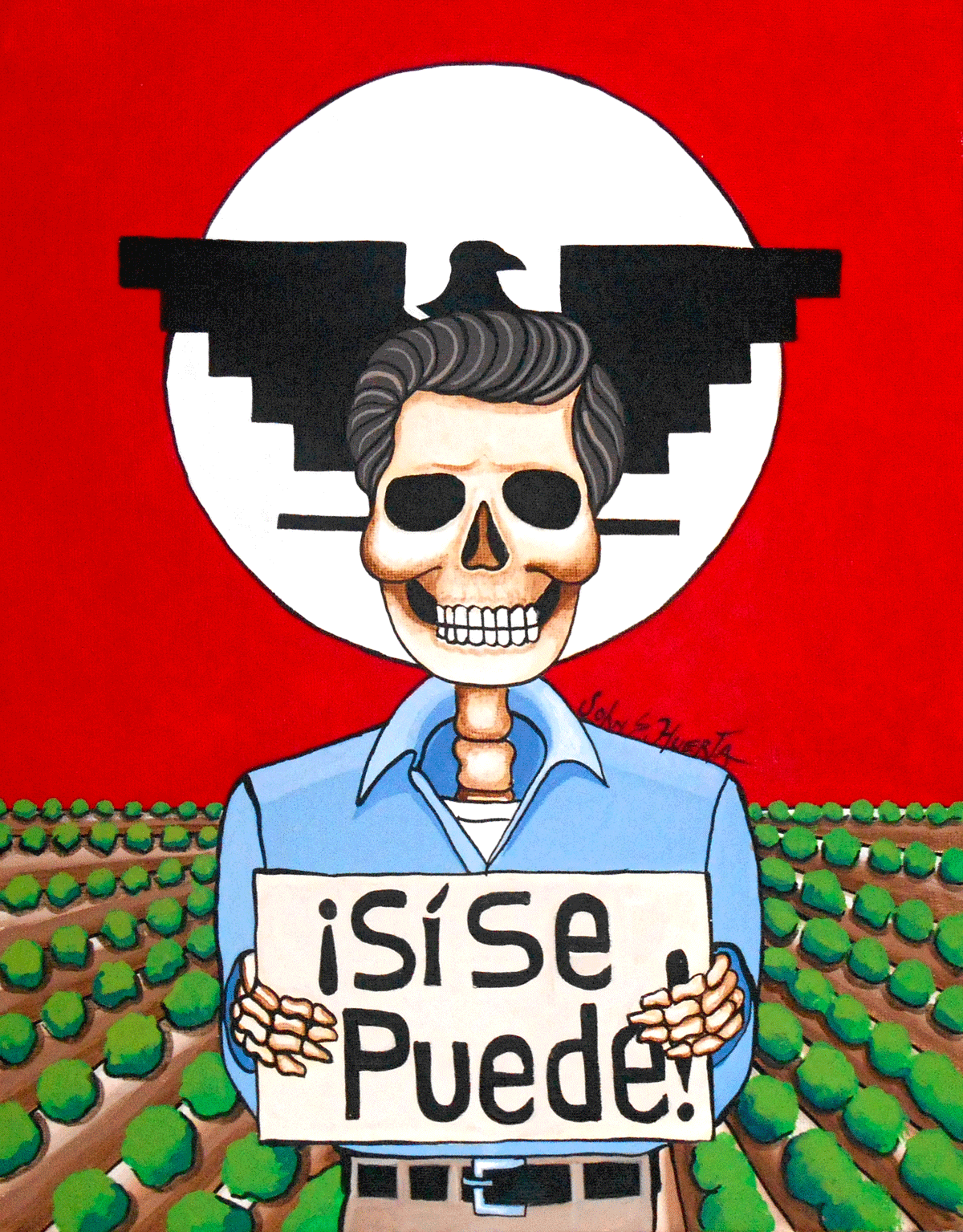 by cesar chavez inspiring people cesar chavez cesar chavez by john huerta courtesy of the artist