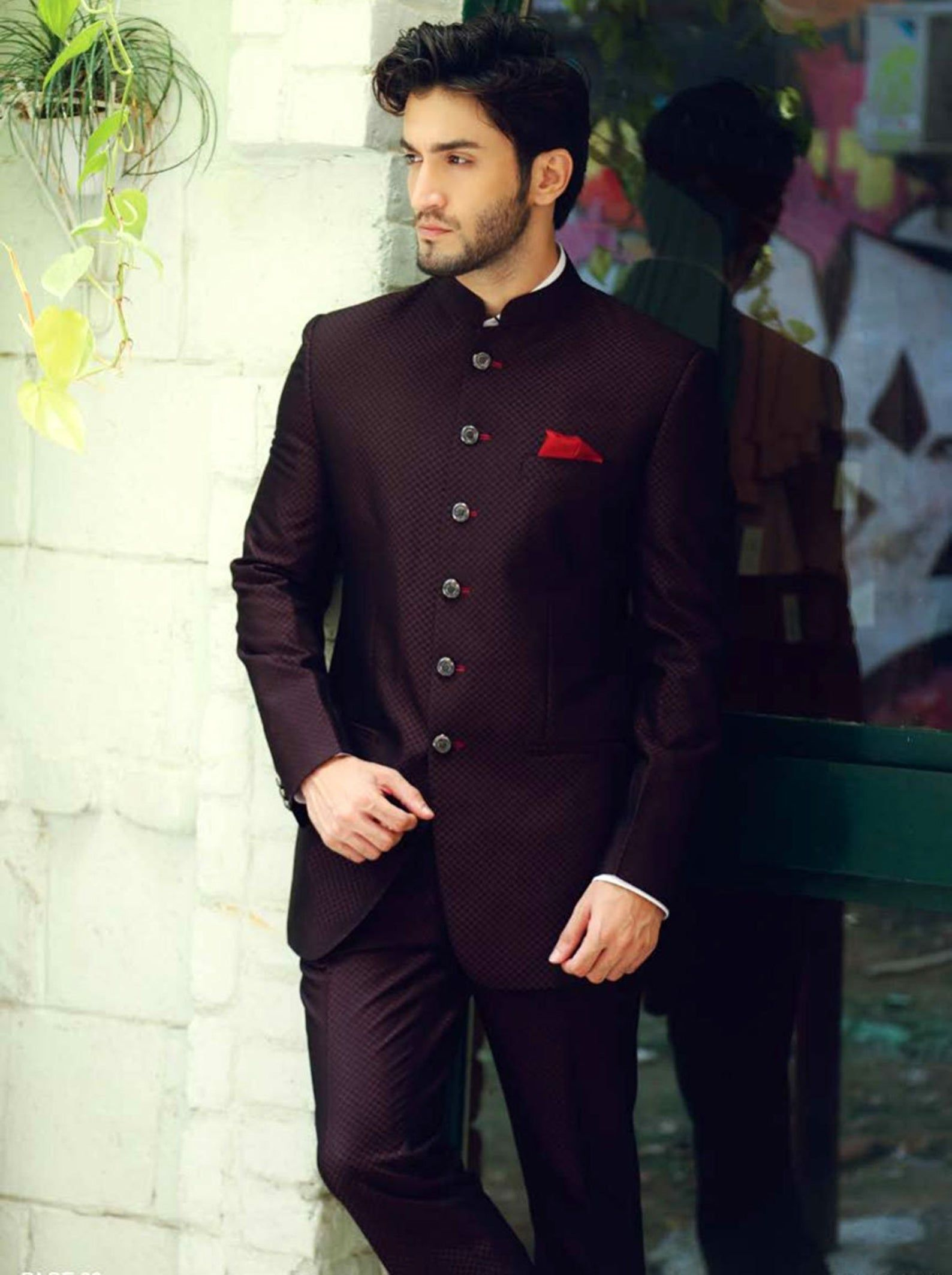 Wine Colour Designer Jodhpuri Suitjodhpuri Suitjodhpuri Suit Etsy Wedding Suits Men Groom Dress Men Wedding Outfit Men [ 2126 x 1588 Pixel ]