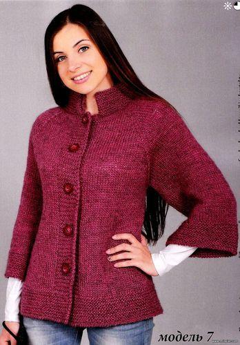 вязаный жакет, вязание, спицы, схемы вязания - Модели со схемами и узорами - Форум #bonnets