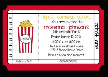 Image result for movie ticket invitation template free printable - free printable movie ticket invitations