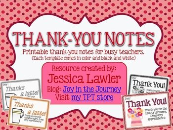 ThankYou Notes From Teachers To Students Or Families  Teacher