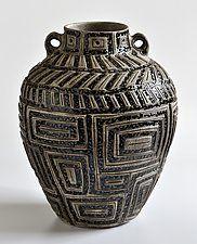 "Ancient Jar 223 by Boyan Moskov (Ceramic Sculpture) (16.5"" x 13"")"