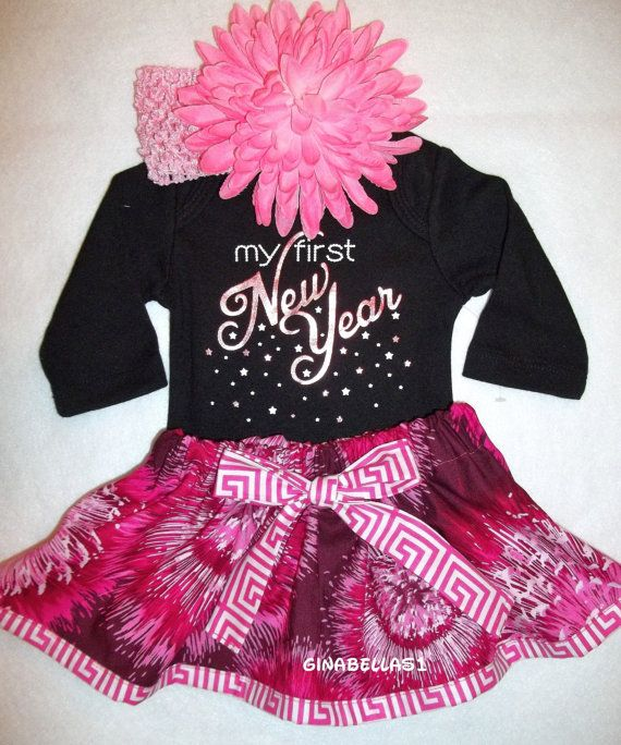 0891498835022 My First New Years outfit New Year 1st baby girl by GinaBellas1, $29.50