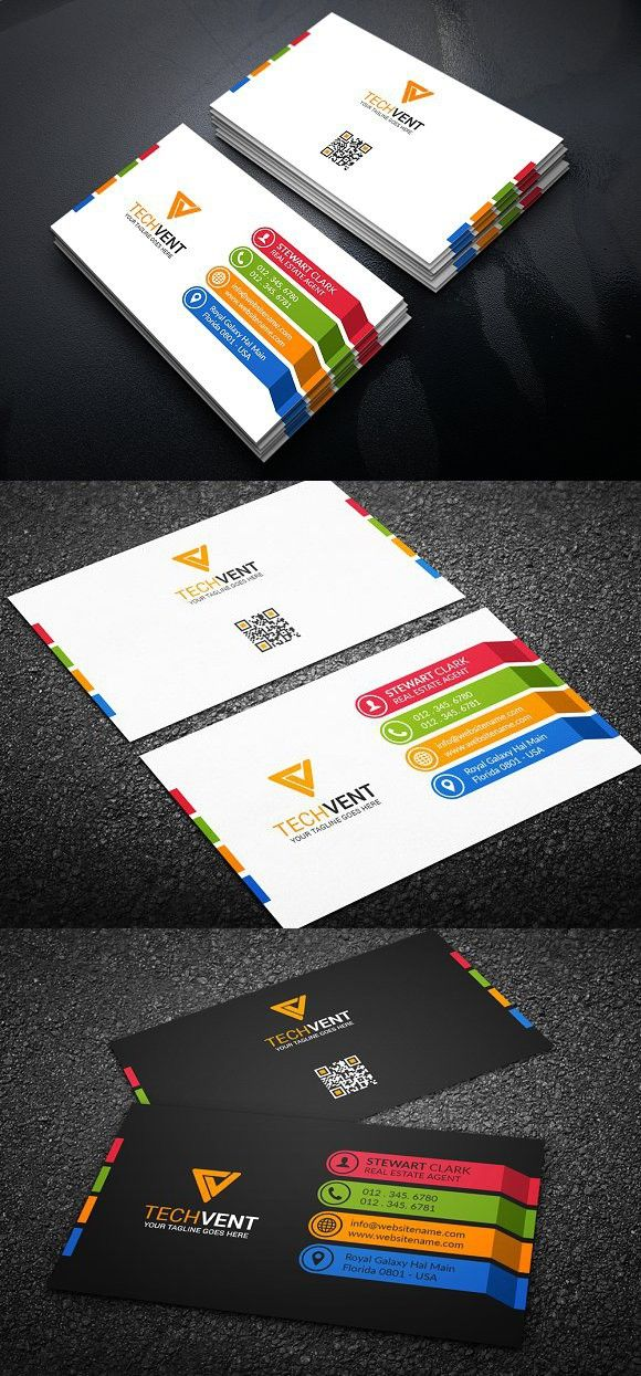 Colorful Creative Business Card | Pinterest | Card templates ...