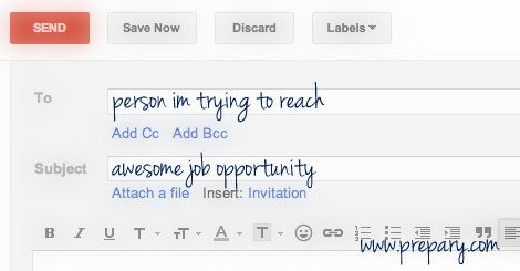 How to email someone you don't know about a job   Job   Job