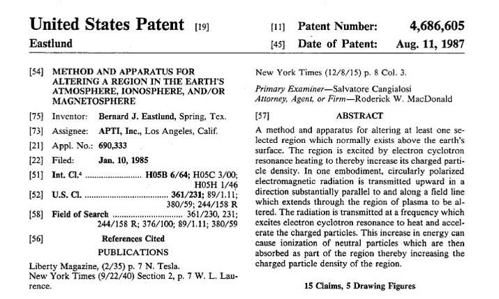Image result for . HAARP patent