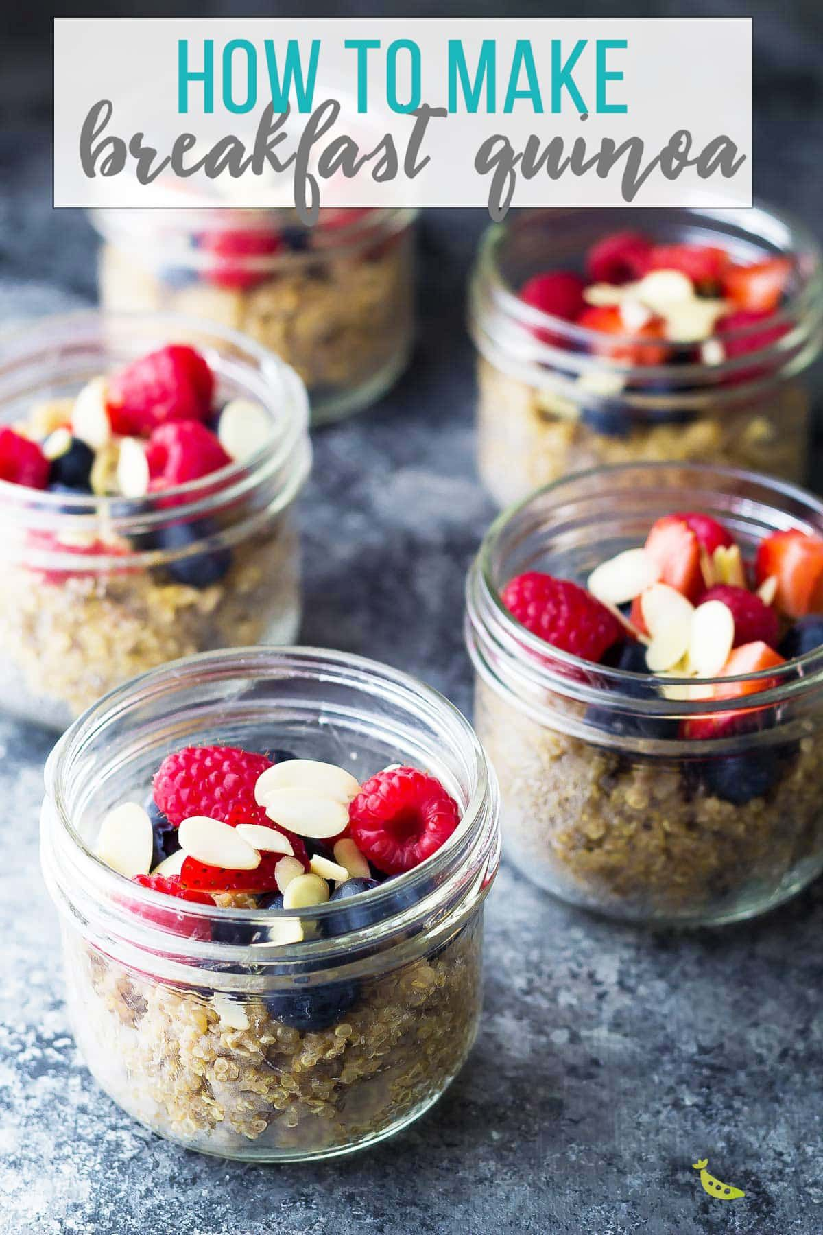 Berry quinoa breakfast meal prep is a great alternative to oatmeal! Simple and delicious with chewy