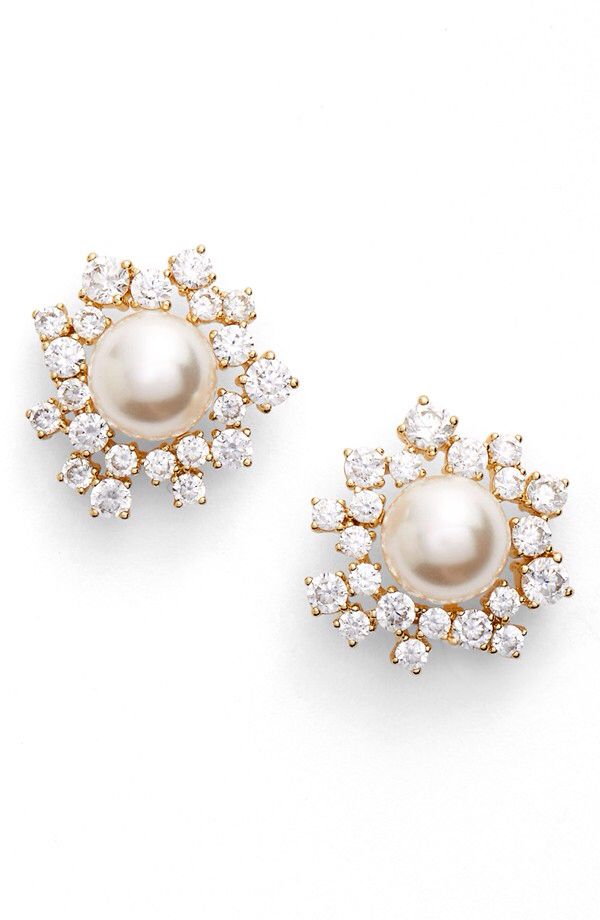 Nadri Nadri Faux Pearl Stud Earrings available at Nordstrom