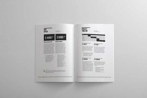 Document Layout Design - Corporate Identity L A Y O U T - what is in a design proposal