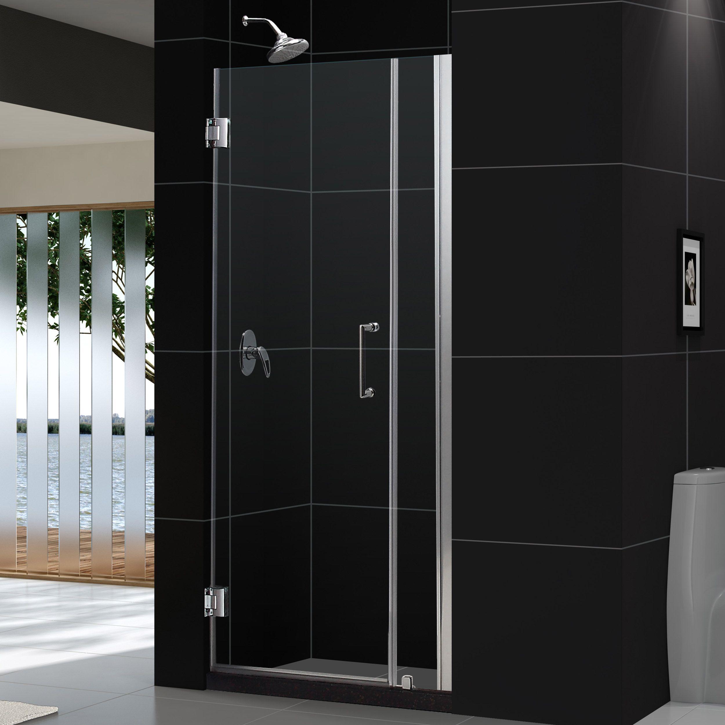 Dreamline Unidoor 33 34 In W X 72 In H Frameless Hinged Shower