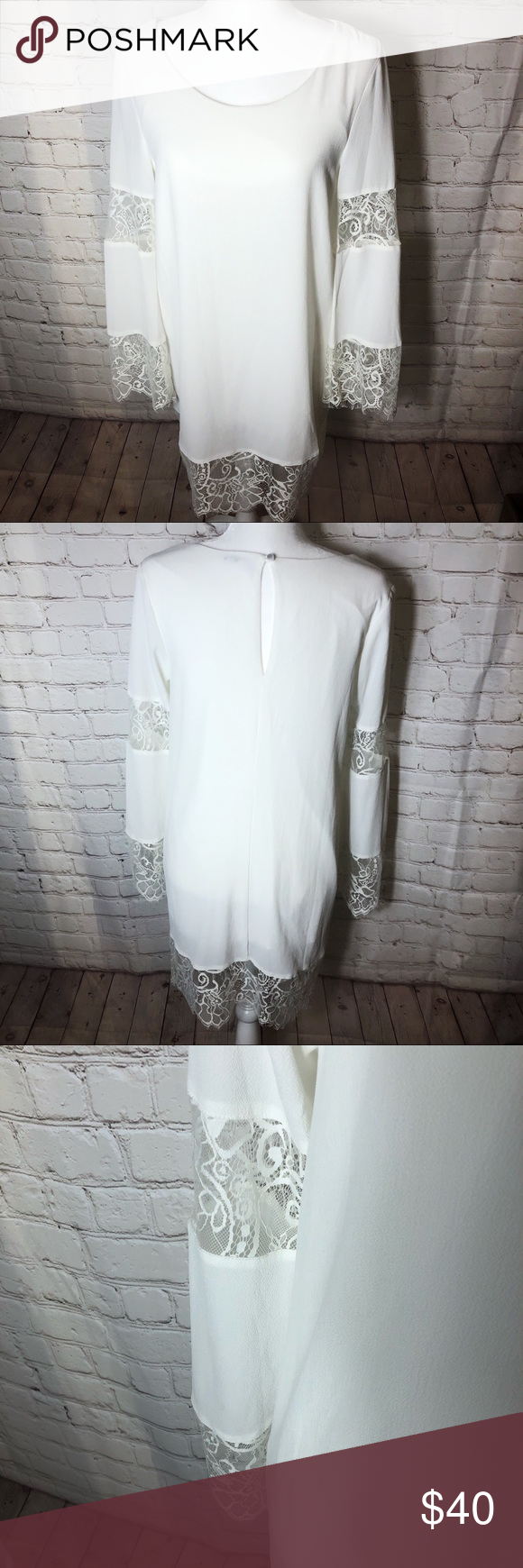 Lulu S Lace White Long Sleeve Bridal Shower Dress Bridal Shower Dress White Long Sleeve Shower Dresses [ 1740 x 580 Pixel ]