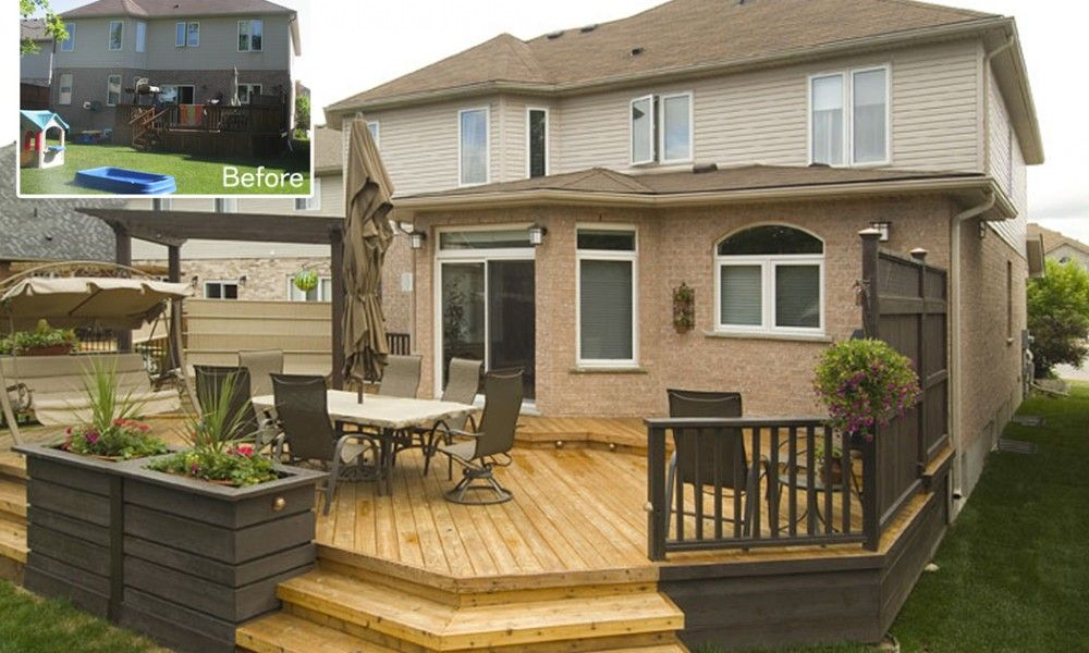 Small Decks 15 Backyard With Deck Ideas For Your Yard Decoration Pinterest And Decking