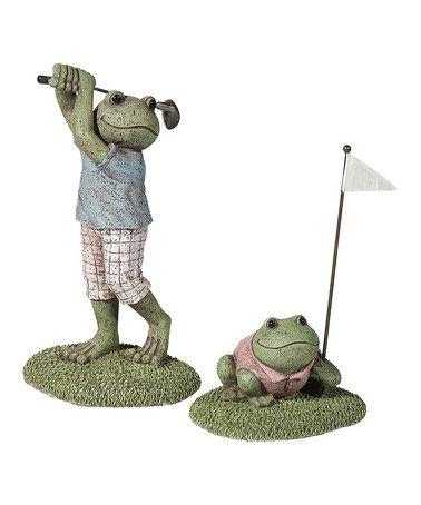 This Golfing Frog Figurine Set by Grasslands Road is perfect! #zulilyfinds