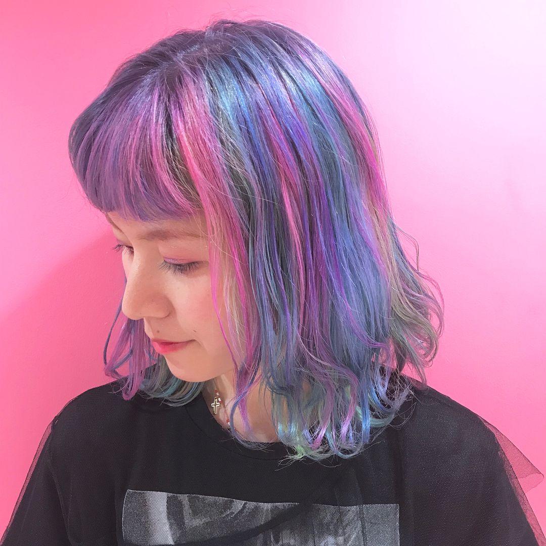 Tetsuya ℹ ハイライト グラデーション シルバーさんはinstagramを利用しています 体育祭にいかがですか Mix Color 青 ピンク 黄色をmixさせて 紫や水色も創るハイトーンデザインカラー マニパニを髪の毛の ヘアスタイリング クールな