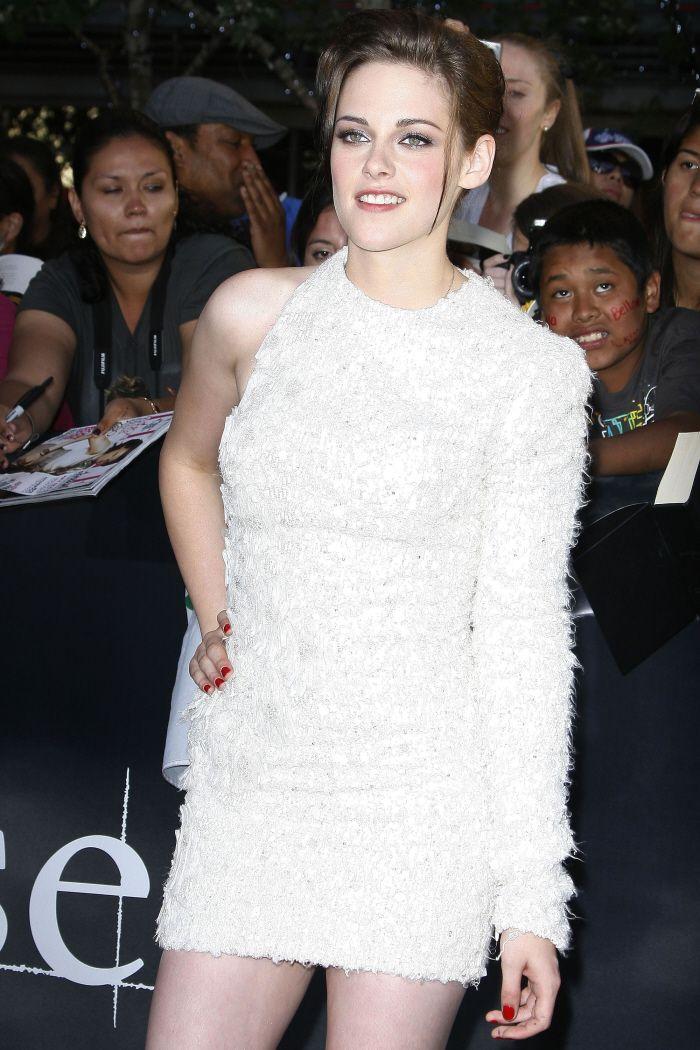 Kristen Stewart White Dress November 2017