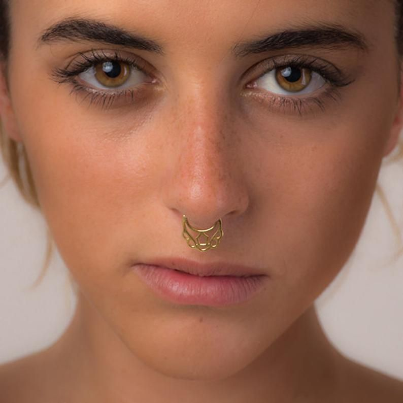 Sterling Silver Body Jewelry  St01005 Nose Clip Fake Septum Clip Fake Nose Ring Faux Sterling Silver Septum Ring Septum Cuff