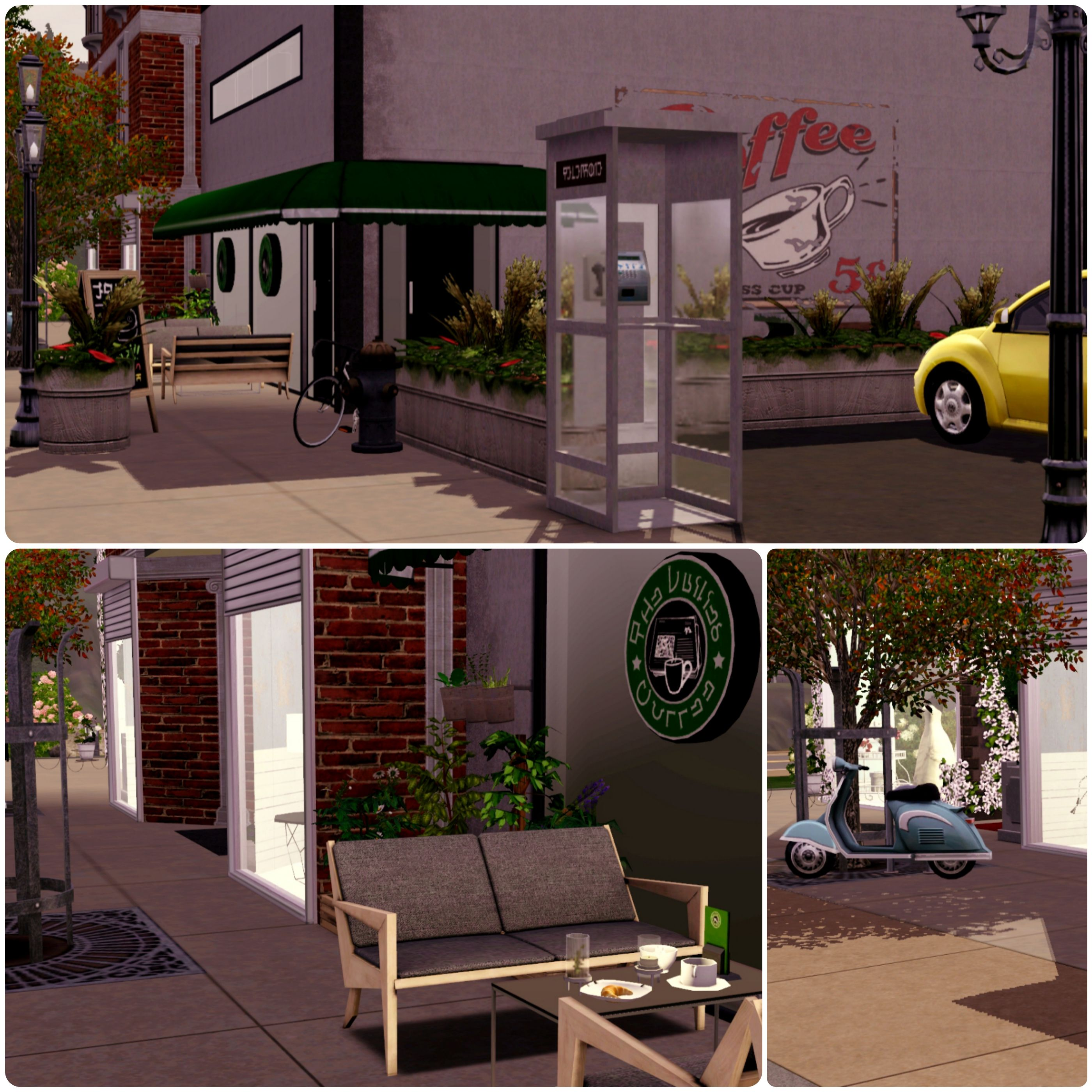 Exceptional Urban Living By Simberry / Coffee Shop / Download / Sims 3 / Apartment