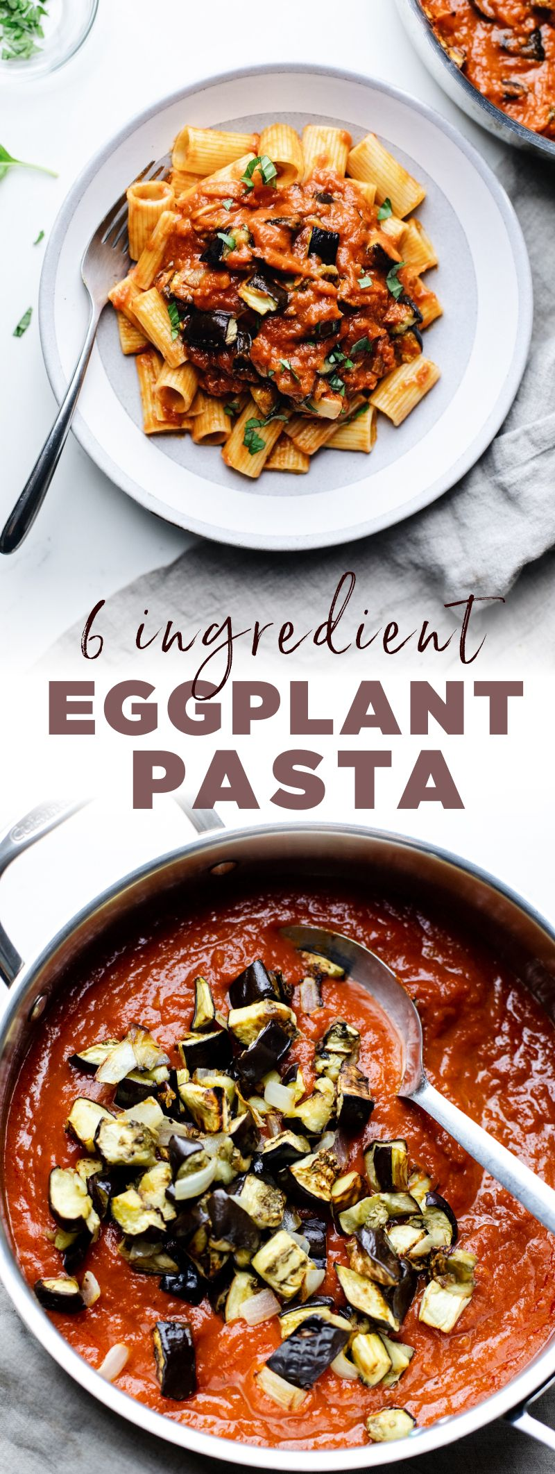 Roasted Eggplant Pasta 6 Ingredients A Simple Palate Recipe In 2020 Eggplant Recipes Roasted Eggplant Pasta Eggplant Pasta