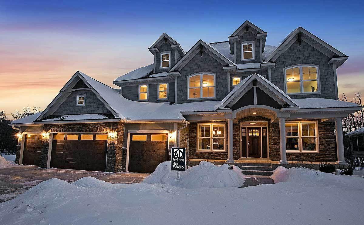 Plan 73343HS Storybook House Plan With 4 Car Garage