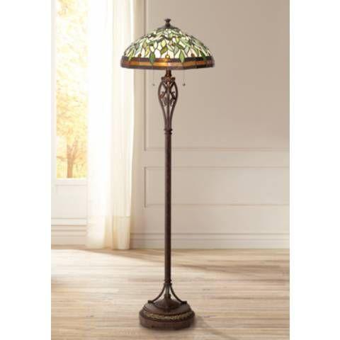 Leaf And Vine Ii Tiffany Style Floor Lamp 8j045 Lamps Plus Tiffany Style Floor Lamps