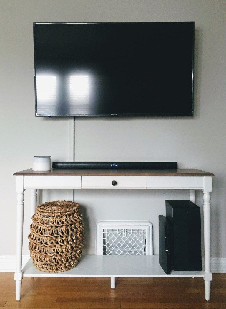 How To Hide Mounted Tv Cables Without Drilling Into The Wall